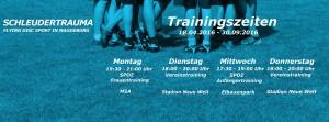 Trainingszeiten SoSe 2016
